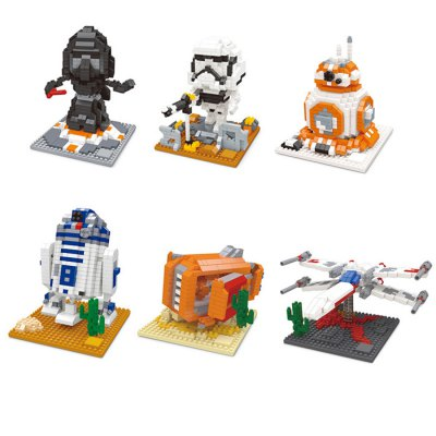 569Pcs Star Wars The Force Awakens R2 — D2 Robot Building Block Toy for Improving Spatial Imagination Intelligent Toy