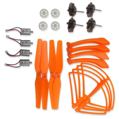 Spare Motor + Propeller + Gear + Motor Base / Protection Ring Set Fitting for Syma X8C QuadcopterRC Quadcopter Parts<br>Spare Motor + Propeller + Gear + Motor Base / Protection Ring Set Fitting for Syma X8C Quadcopter<br><br>Brand: Syma<br>Package Contents: 4 x Landing Skid, 4 x Protection Ring, 2 x CW Propeller, 2 x CCW Propeller, 4 x Gear, 4 x Motor Seat, 2 x CW Motor, 2 x CCW Motor<br>Package size (L x W x H): 25.00 x 16.00 x 7.00 cm / 9.84 x 6.30 x 2.76 inches<br>Package weight: 0.360 kg<br>Type: Landing Gear, Motor, Motor Base, Gear, Protection Ring, Propellers