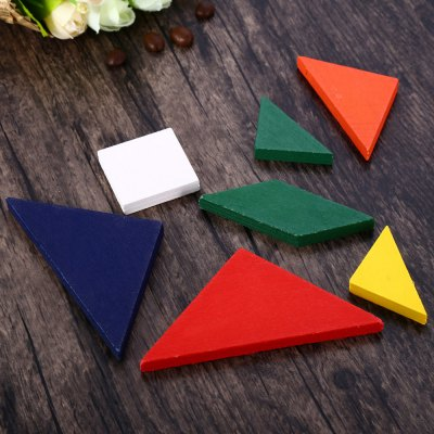 Colorful Wooden Brain Training Geometry TangramOther Supplies<br>Colorful Wooden Brain Training Geometry Tangram<br><br>Material: Wood<br>Color: Multi-color<br>Product weight: 0.052 kg<br>Package weight: 0.075 kg<br>Product size (L x W x H): 10.90 x 10.90 x 0.90 cm / 4.29 x 4.29 x 0.35 inches<br>Package size (L x W x H): 13.60 x 11.00 x 1.90 cm / 5.35 x 4.33 x 0.75 inches<br>Package Contents: 7 x Tangram Colored Wooden Jigsaw Puzzle