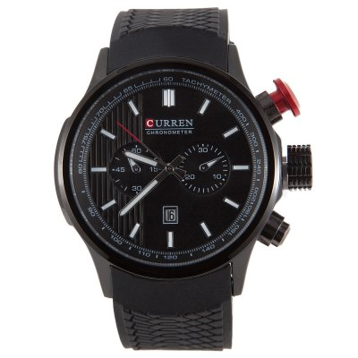 CURREN 8175 Men Quartz Watch Silicone BandMens Watches<br>CURREN 8175 Men Quartz Watch Silicone Band<br><br>Watches categories: Male table<br>Watch style: Casual,Fashion<br>Movement type: Quartz watch<br>Shape of the dial: Round<br>Display type: Digital<br>Hour formats: 12 Hour<br>Case material: Stainless Steel<br>Band material: Silicone<br>Clasp type: Pin buckle<br>Special features: Date,Luminous<br>Water resistance : 30 meters<br>The dial thickness: 1.5 cm / 0.59 inches<br>The dial diameter: 4.5 cm / 1.77 inches<br>The band width: 2.5 cm / 0.98 inches<br>Wearable length: 16 - 22 cm / 6.29 - 8.66 inches<br>Product weight: 0.092 kg<br>Package weight: 0.132 kg<br>Product size (L x W x H): 23.00 x 5.00 x 2.00 cm / 9.06 x 1.97 x 0.79 inches<br>Package size (L x W x H): 24.00 x 6.00 x 3.00 cm / 9.45 x 2.36 x 1.18 inches<br>Package Contents: 1 x CURREN Men Quartz Watch