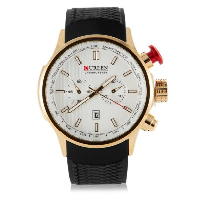 CURREN 8175 Men Quartz Watch Silicone BandMens Watches<br>CURREN 8175 Men Quartz Watch Silicone Band<br><br>Watches categories: Male table<br>Watch style: Casual,Fashion<br>Movement type: Quartz watch<br>Shape of the dial: Round<br>Display type: Digital<br>Hour formats: 12 Hour<br>Case material: Stainless Steel<br>Band material: Silicone<br>Clasp type: Pin buckle<br>Special features: Date,Luminous<br>Water resistance : 30 meters<br>The dial thickness: 1.5 cm / 0.59 inches<br>The dial diameter: 4.5 cm / 1.77 inches<br>The band width: 2.5 cm / 0.98 inches<br>Wearable length: 16 - 22 cm / 6.29 - 8.66 inches<br>Product weight: 0.092KG<br>Package weight: 0.132 KG<br>Product size (L x W x H): 23.00 x 5.00 x 2.00 cm / 9.06 x 1.97 x 0.79 inches<br>Package size (L x W x H): 24.00 x 6.00 x 3.00 cm / 9.45 x 2.36 x 1.18 inches<br>Package Contents: 1 x CURREN Men Quartz Watch