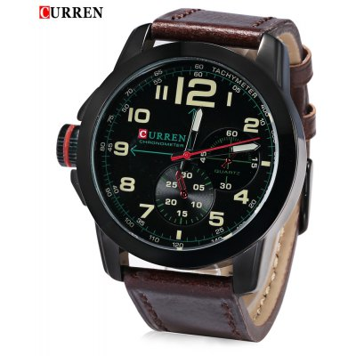 CURREN 8182B Men Quartz Watch   Wristwatch
