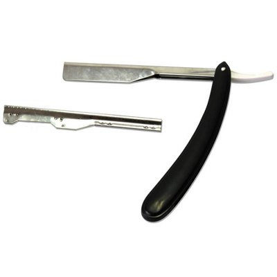 Traditional Stainless Steel Straight Edge Barber Razor Old Manual Shaver