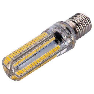 E14 10W 1050LM 152 SMD 3014 Dimmable LED Corn Bulb ( AC 220 - 240V )LED Light Bulbs<br>E14 10W 1050LM 152 SMD 3014 Dimmable LED Corn Bulb ( AC 220 - 240V )<br><br>Base Type: E14<br>Type: Corn Bulbs<br>Output Power: 10W<br>Emitter Types: SMD 3014<br>Total Emitters: 152<br>Rated Luminous Flux: 1200Lm<br>Luminous Flux: 1050Lm<br>CCT/Wavelength: 2800-3200K,6000-6500K<br>Voltage (V): AC 220-240<br>Lifespan: 30000 hrs<br>Features: Dimmable,Long Life Expectancy,Low Power Consumption<br>Function: Commercial Lighting,Home Lighting,Studio and Exhibition Lighting<br>Available Light Color: Warm White,White<br>Sheathing Material: Plastic,Silicone<br>Product weight: 0.014 kg<br>Package weight: 0.095 kg<br>Product size (L x W x H): 6.20 x 1.50 x 1.50 cm / 2.44 x 0.59 x 0.59 inches<br>Package size (L x W x H): 7.80 x 2.80 x 2.80 cm / 3.07 x 1.10 x 1.10 inches<br>Package Contents: 1 x Dimmable LED Corn Bulb