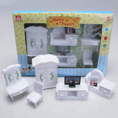 WANQIXIANG Mini Plastic Furniture Set Toy for Playing House Game Decoration Kid Gift