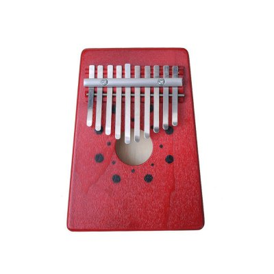 10 Key Kalimba Red Pine Thumb Piano African Classic Instrument