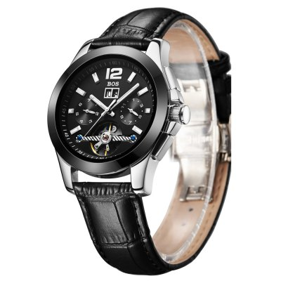 ФОТО BOS 9001G Multi-function Male Automatic Mechanical Watch