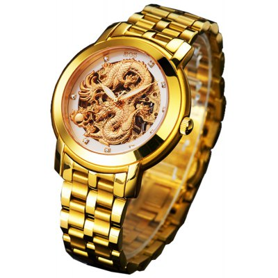 BOS 9007G Dragon Decoration Male Automatic Mechanical Watch
