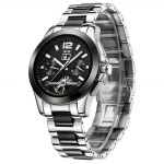 BOS 9001G Multi-function Male Automatic Mechanical Watch