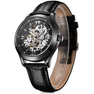 BOS 9008G Hollow-out Dial Male Automatic Mechanical WatchMechanical Watches<br>BOS 9008G Hollow-out Dial Male Automatic Mechanical Watch<br><br>Brand: BOS<br>Watches categories: Male table<br>Watch style: Fashion,Hollow-out<br>Style elements: Hollow Out,Stainless Steel<br>Available color: Black,Brown,Gold<br>Movement type: Automatic mechanical watch<br>Shape of the dial: Round<br>Display type: Analog<br>Case material: Stainless Steel<br>Band material: Genuine Leather<br>Clasp type: Butterfly clasp<br>The dial thickness: 1.1 cm / 0.43 inches<br>The dial diameter: 4.2 cm / 1.65 inches<br>The band width: 2.0 cm  / 0.79 inches<br>Product weight: 0.085 kg<br>Package weight: 0.115 kg<br>Product size (L x W x H): 22.00 x 4.40 x 1.10 cm / 8.66 x 1.73 x 0.43 inches<br>Package size (L x W x H): 23.00 x 5.40 x 2.10 cm / 9.06 x 2.13 x 0.83 inches<br>Package Contents: 1 x BOS Watch