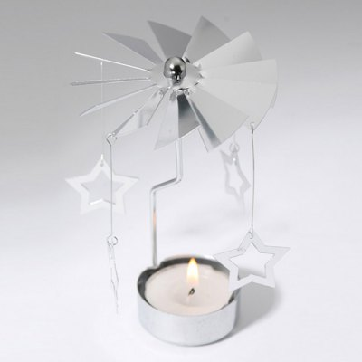 European Retro Rotating Windmill Style Candle Holder