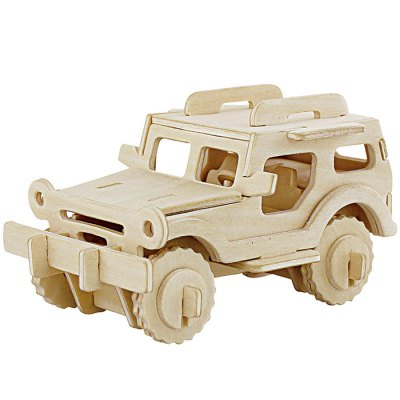 Robotime Jeep 3D Jigsaw Puzzle Woodcraft Assemble Toy Educational Game Kids Gift