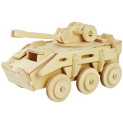 Robotime Armoured Vehicle 3D Jigsaw Puzzle Woodcraft Assemble Toy Educational Game Kids Gift