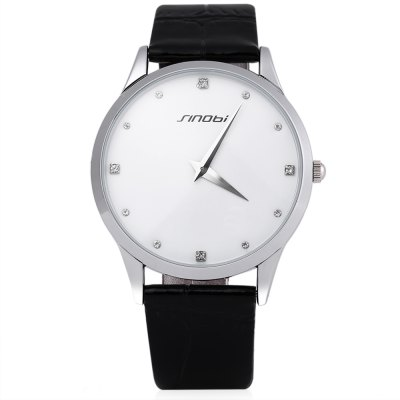 Sinobi 9141 Male Quartz WatchMens Watches<br>Sinobi 9141 Male Quartz Watch<br><br>Brand: Sinobi<br>Watches categories: Male table<br>Watch style: Casual,Fashion<br>Available color: Black,Coffee,White<br>Movement type: Quartz watch<br>Shape of the dial: Round<br>Display type: Analog<br>Case material: Stainless Steel<br>Band material: Leather<br>Clasp type: Pin buckle<br>Water resistance : 30 meters<br>The dial thickness: 0.60 cm / 0.24 inches<br>The dial diameter: 3.90 cm / 1.54 inches<br>The band width: 1.7 cm / 0.67 inches<br>Wearable length: 18 cm / 7.09 inches<br>Product weight: 0.035 kg<br>Package weight: 0.076 kg<br>Product size (L x W x H): 24.00 x 4.10 x 0.60 cm / 9.45 x 1.61 x 0.24 inches<br>Package size (L x W x H): 25.00 x 5.10 x 1.10 cm / 9.84 x 2.01 x 0.43 inches<br>Package Contents: 1 x Sinobi 9141 Watch