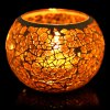 European Mosaic Glass Style Candle Holder deal