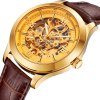 best BOS 9008G Hollow-out Dial Male Automatic Mechanical Watch