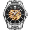 BOS 9010G Hollow-out Dial Male Automatic Mechanical Watch deal