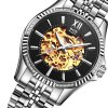 BOS 9010G Hollow-out Dial Male Automatic Mechanical Watch photo