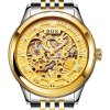 cheap BOS 9013 Hollow-out Dial Male Automatic Mechanical Watch