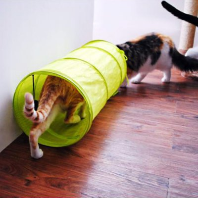 Foldable Ployester Pet Tunnel Shape TentCat Toys<br>Foldable Ployester Pet Tunnel Shape Tent<br><br>For: Cats,Dogs,Others<br>Material: Polyester<br>Season: All seasons<br>Color: Blue,Green,Rose<br>Product weight: 0.200 kg<br>Package weight: 0.280 kg<br>Product size (L x W x H): 25.00 x 25.00 x 50.00 cm / 9.84 x 9.84 x 19.69 inches<br>Package size (L x W x H): 27.00 x 27.00 x 3.00 cm / 10.63 x 10.63 x 1.18 inches<br>Package Contents: 1 x Pet Tunnel