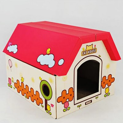 Corrugated Paper DIY Foldable Pet HouseCat Toys<br>Corrugated Paper DIY Foldable Pet House<br><br>For: Cats,Dogs,Others<br>Type: Houses&amp;Kennels &amp; Pens<br>Material: Paper<br>Functions: Adjustable<br>Season: All seasons<br>Product weight: 1.000 kg<br>Package weight: 1.130 kg<br>Product size (L x W x H): 40.00 x 45.00 x 35.00 cm / 15.75 x 17.72 x 13.78 inches<br>Package size (L x W x H): 45.00 x 50.00 x 40.00 cm / 17.72 x 19.69 x 15.75 inches<br>Package Contents: 1 x Pet House