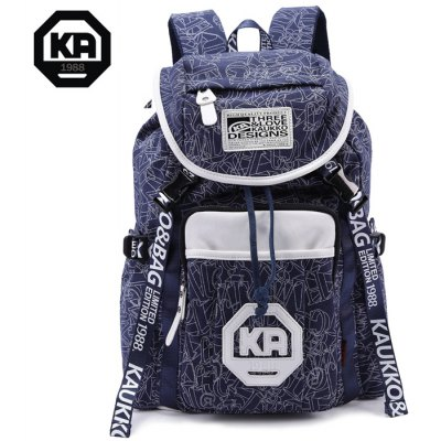 KAUKKO 19L Student Traveling Backpack Thick Canvas Made
