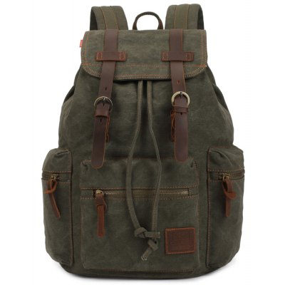 KAUKKO 14L Student Casual Backpack All Cotton Lining