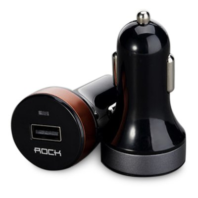 Rock RCC0102 QC2.0 Car Charger AdapteriPhone Cables &amp; Adapters<br>Rock RCC0102 QC2.0 Car Charger Adapter<br><br>Brand: Rock<br>Compatibility: Blackberry,Devices that support recharging via USB,GALAXY Mega2,Galaxy Note 4,HTC One M9,iPhone 4,iPhone 4S,iPhone 5,iPhone 5C,iPhone 5S,iPhone 6,iPhone 6 Plus,iPhone 6S,iPhone 6S Plus,Mate 7,Moto X+1<br>Type: Car Chargers<br>Material ( Cable&amp;Adapter): Aluminum Alloy,PC,Stainless Steel<br>Color: Cyan,Gold Brown<br>Input ( Car Charger ): DC 12 - 24V<br>Output ( Car Charger ): 5V 2A / 9V 1.8A<br>Product weight: 0.019KG<br>Package weight: 0.080 KG<br>Product size (L x W x H): 3.25 x 3.25 x 6.10 cm / 1.28 x 1.28 x 2.4 inches<br>Package size (L x W x H): 12.00 x 8.00 x 7.00 cm / 4.72 x 3.15 x 2.76 inches<br>Package Contents: 1 x Car Charger