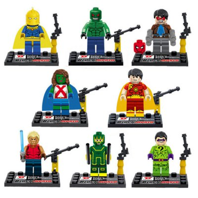 Dargo Super Hero Mini Figure Assemble Puzzle Toy Intelligent Gift
