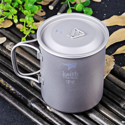 Keith Ti3204 450mL Titanium Cup with Cover