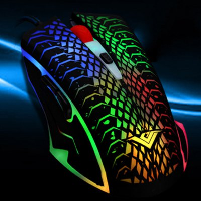 RAJFOO DN16066 Wired USB Gaming MouseMouse<br>RAJFOO DN16066 Wired USB Gaming Mouse<br><br>Model: DN16066<br>Material: ABS<br>Interface: USB 2.0<br>Resolution: 1200DPI,1600DPI,2400DPI,800DPI<br>Powered by: USB Power<br>Supports System : MAC OS X,Win 2000,Win 2008,Win vista,Win XP,Win7 32,Win7 64,Win8 32,Win8 64<br>Suitable for: HTPC,PC<br>Cable Length (m): 1.6m<br>Color: Multi-color<br>Product weight: 0.123 kg<br>Package weight: 0.165 kg<br>Product size: 12.10 x 6.70 x 3.70 cm / 4.76 x 2.64 x 1.46 inches<br>Package size: 18.00 x 8.00 x 4.00 cm / 7.09 x 3.15 x 1.57 inches<br>Package Contents: 1 x RAJFOO DN16066 Wired USB Gaming Mouse