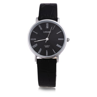 Longbo 8860D Female Leather Strap Quartz WatchWomens Watches<br>Longbo 8860D Female Leather Strap Quartz Watch<br><br>Brand: Longbo<br>Watches categories: Female table<br>Available color: Black,White<br>Style: Fashion&amp;Casual,Ultrathin<br>Movement type: Quartz watch<br>Shape of the dial: Round<br>Display type: Analog<br>Case material: Alloy<br>Case color: Silver<br>Band material: Leather<br>Clasp type: Pin buckle<br>Water resistance : Life water resistant<br>The dial thickness: 0.7 cm / 0.28 inch<br>The dial diameter: 3.2 cm / 1.26 inch<br>The band width: 1.5 cm / 0.59 inch<br>Wearable length: 17.5 - 21 cm / 6.89 - 8.27 inch<br>Product weight: 0.026 kg<br>Package weight: 0.060 kg<br>Product size (L x W x H): 23.50 x 3.20 x 0.70 cm / 9.25 x 1.26 x 0.28 inches<br>Package size (L x W x H): 14.00 x 4.20 x 1.70 cm / 5.51 x 1.65 x 0.67 inches<br>Package Contents: 1 x Watch