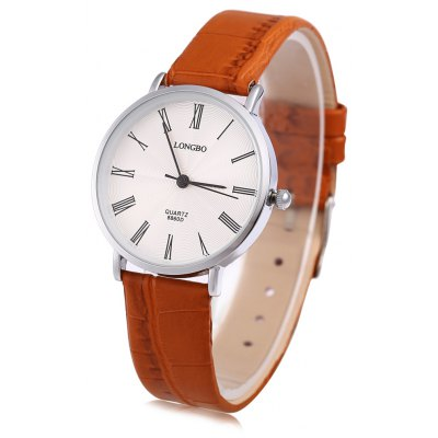 Longbo 8860D Female Leather Strap Quartz Watch