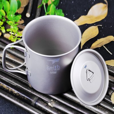 Keith Ti3203 400mL Titanium Cup with Cover