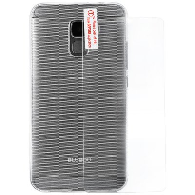 Original Bluboo Xfire 2 TPU Back Case Tempered Glass Film