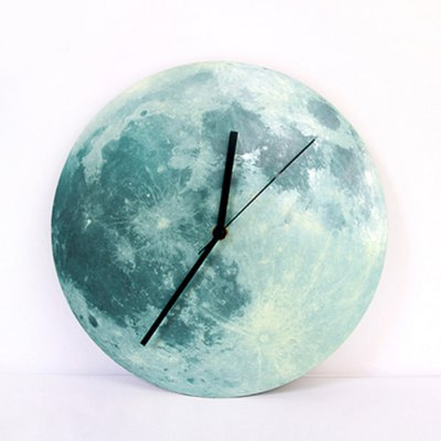 Moon Glow Luminous Wall Clock Decorative Sticker