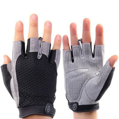 Unisex Exercising Gloves Velcro Wrist Design