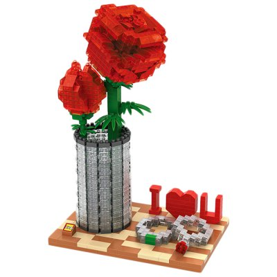 LOZ 9022 Rose Assemble Puzzle Game Intelligent Toy Present 920Pcs / SetBlock Toys<br>LOZ 9022 Rose Assemble Puzzle Game Intelligent Toy Present 920Pcs / Set<br><br>Materials: ABS<br>Theme: Movie and TV<br>Gender: Unisex<br>Completeness: Semi-finished Product<br>Stem From: Japan<br>Package weight: 0.370 kg<br>Package size: 20.00 x 28.00 x 5.00 cm / 7.87 x 11.02 x 1.97 inches<br>Package Contents: 920 x Block