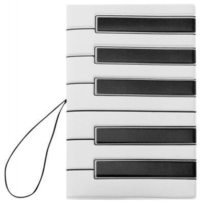Piano Key Pattern Passport Cover Holder Case