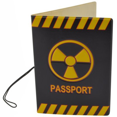 Danger Mark Pattern Passport Cover Holder Case