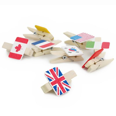 country-flag-pattern-wood-paper-clips-8pcs