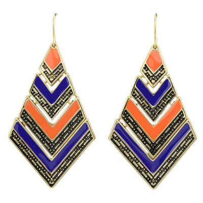 ER-3834 Geometrical Design Earrings for Ladies 1 Pair