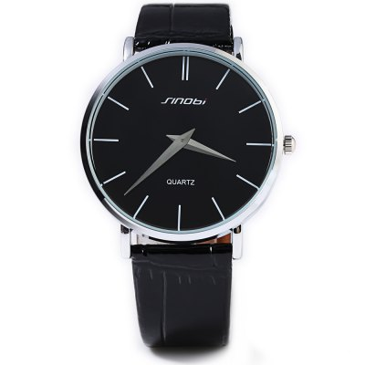 Sinobi 9140 Male Japan Quartz WatchMens Watches<br>Sinobi 9140 Male Japan Quartz Watch<br><br>Brand: Sinobi<br>Watches categories: Male table<br>Watch style: Business,Casual<br>Available color: Black,Brown,White<br>Movement type: Quartz watch<br>Shape of the dial: Round<br>Display type: Analog<br>Case material: Stainless Steel<br>Band material: Leather<br>Clasp type: Pin buckle<br>Water resistance : 30 meters<br>The dial thickness: 0.60 cm / 0.02 inches<br>The dial diameter: 4 cm / 0.13 inches<br>The band width: 1.8 cm  / 0.06 inches<br>Wearable length: 18 -24 cm  / 0.59 - 0.79 inches<br>Product weight: 0.038KG<br>Package weight: 0.071 KG<br>Product size (L x W x H): 24.00 x 4.20 x 0.60 cm / 9.45 x 1.65 x 0.24 inches<br>Package size (L x W x H): 25.00 x 5.20 x 0.80 cm / 9.84 x 2.05 x 0.31 inches<br>Package Contents: 1 x Sinobi 9140 Watch