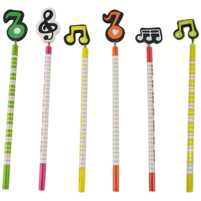 DEDO MG-8 Colorful Music Notes Wood Pencil - 6PCSPen &amp; Pencils<br>DEDO MG-8 Colorful Music Notes Wood Pencil - 6PCS<br><br>Brand: DEDO<br>Available color: Multi-color<br>Material: Wood<br>Product weight: 0.040 kg<br>Package weight: 0.060 kg<br>Product size (L x W x H): 23.00 x 0.70 x 2.00 cm / 9.06 x 0.28 x 0.79 inches<br>Package size (L x W x H): 25.00 x 2.00 x 4.00 cm / 9.84 x 0.79 x 1.57 inches<br>Package Contents: 6 x DEDO MG-8 Colorful Music Symbols Pencil