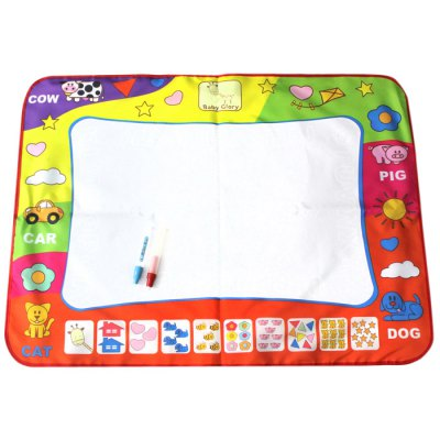Lovely Reusable Water Painting PVC Cloth / Pen