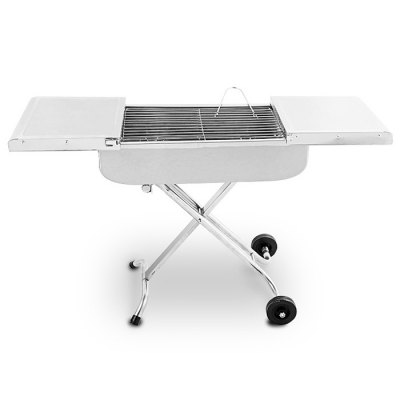Cowekai K-8183 BBQ Charcoal Grill with Draw-bar Handle