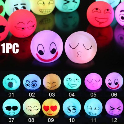 Facial Expression Shape LED Night Light Atmosphere Beside Lamp