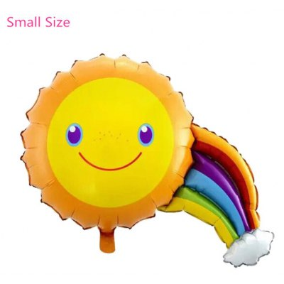 Sun Smile Face Inflating Foil Balloon Auto-Seal Party Birthday Decor Toy for Kid / Adult