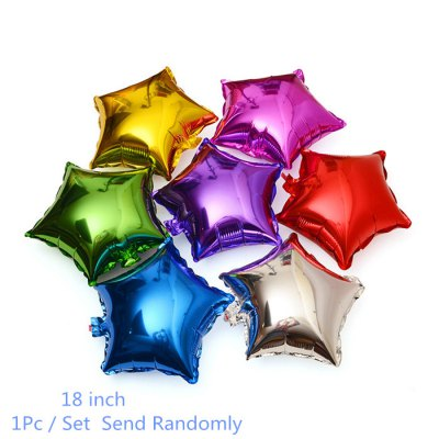 18 inch Five-pointed Star Foil Balloon for Gift