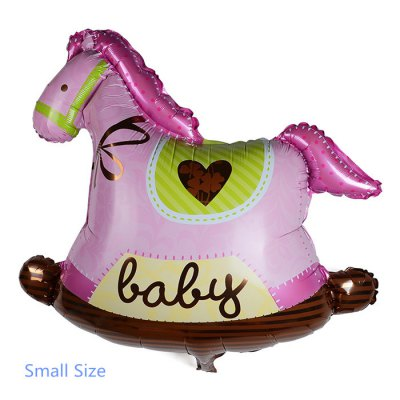 Small Wooden Horse Foil Balloon